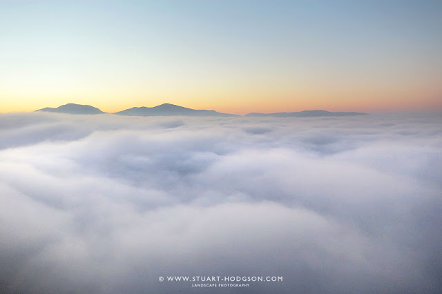 Cloud inversion walla crag keswick lake district views see