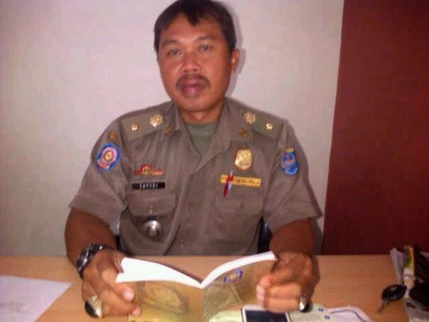 Satpol PP Kecamatan Bojongsari Tertibkan Anjal