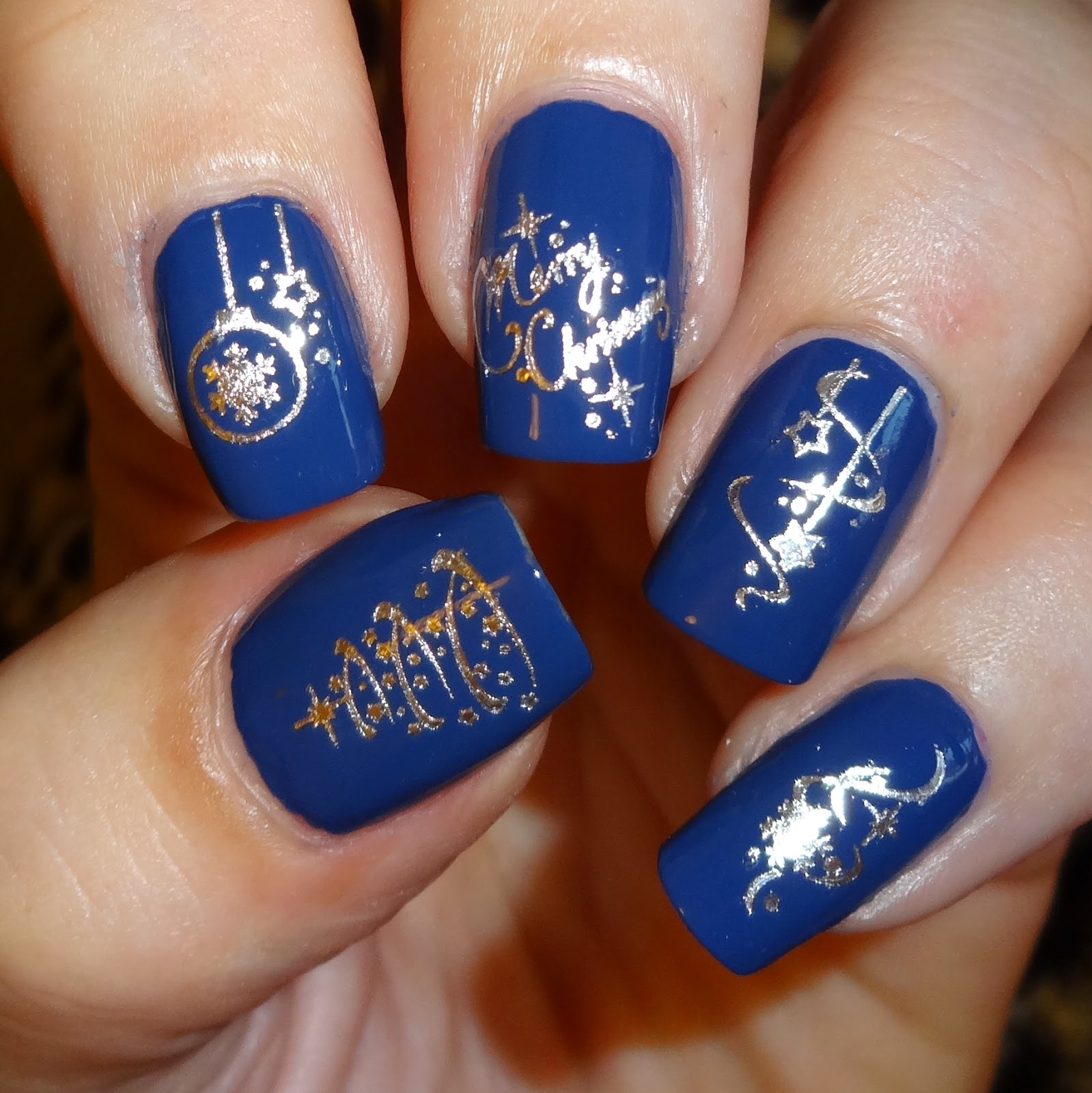 navy blue and silver nail designs nail art gallery navy blue nail art photos - Blue Christmas Nails