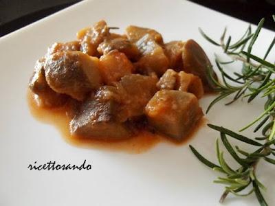 Melanzane al funghetto ricetta vegetariana