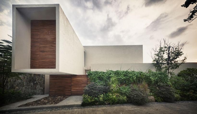 Facade of modern villa