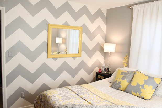 Paint A Trendy Chevron Patterned Wall Picfish