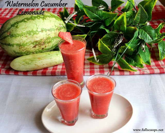 Watermelon Cucumber Lemonade