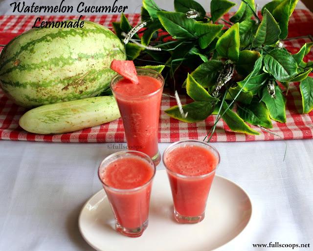 Watermelon Cucumber Lemonade