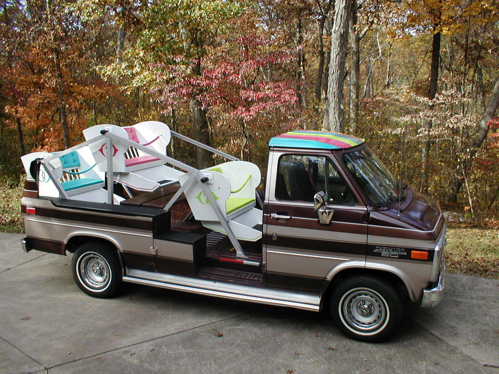 The Seller Lists This Thing As A 1950s 1960s Carnival Like Ferris Wheel Chevrolet And If Thats What Rides Were In 50s 60s