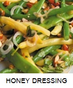 SALAD BEANS WITH HONEY DRESSING