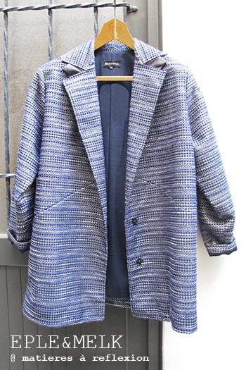 SOLDES Eple & Melk manteau bleu