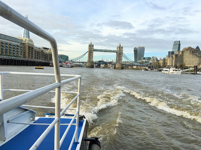 View From A River Taxi. London Bridge. The Thames.
