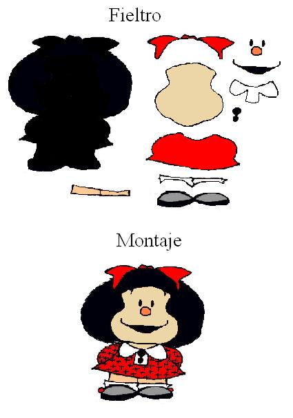 Broche De Fieltro De Mafalda  Patrones De Fieltro