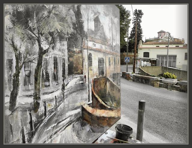 SANT FELIU DE CODINES-PINTURA-PINTANDO-FABRICAS-PAISAJES-FOTOS-PINTOR-ERNEST DESCALS-
