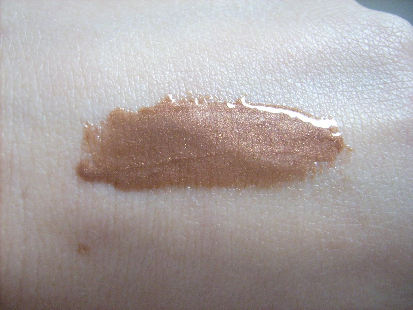swatch lipgloss delicious pout Calvin Klein dew drop