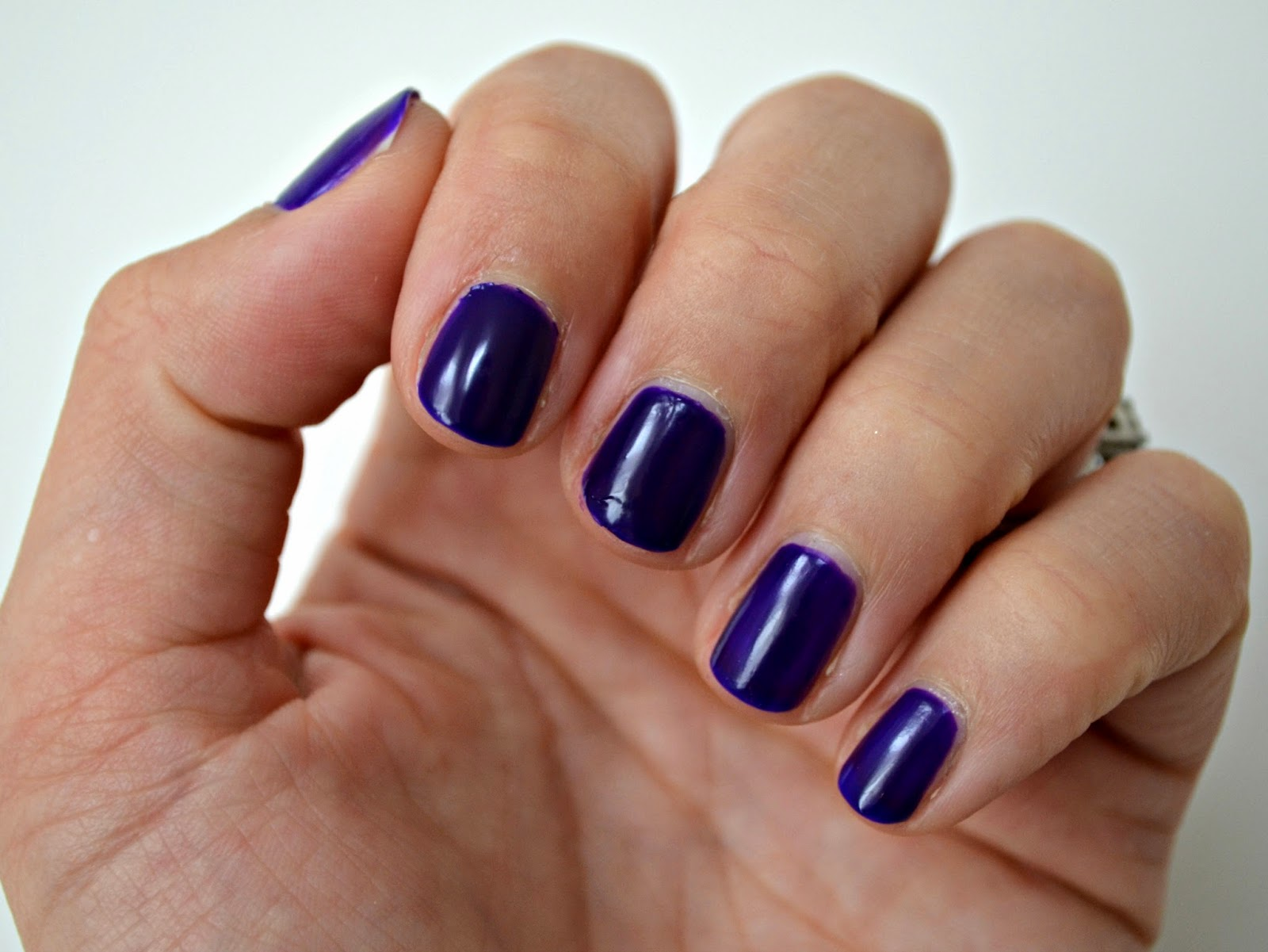 Orly Saturated purple nails