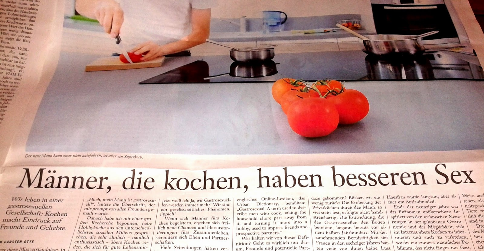frankfurter allgemeine sonntagszeitung, kochen, sex