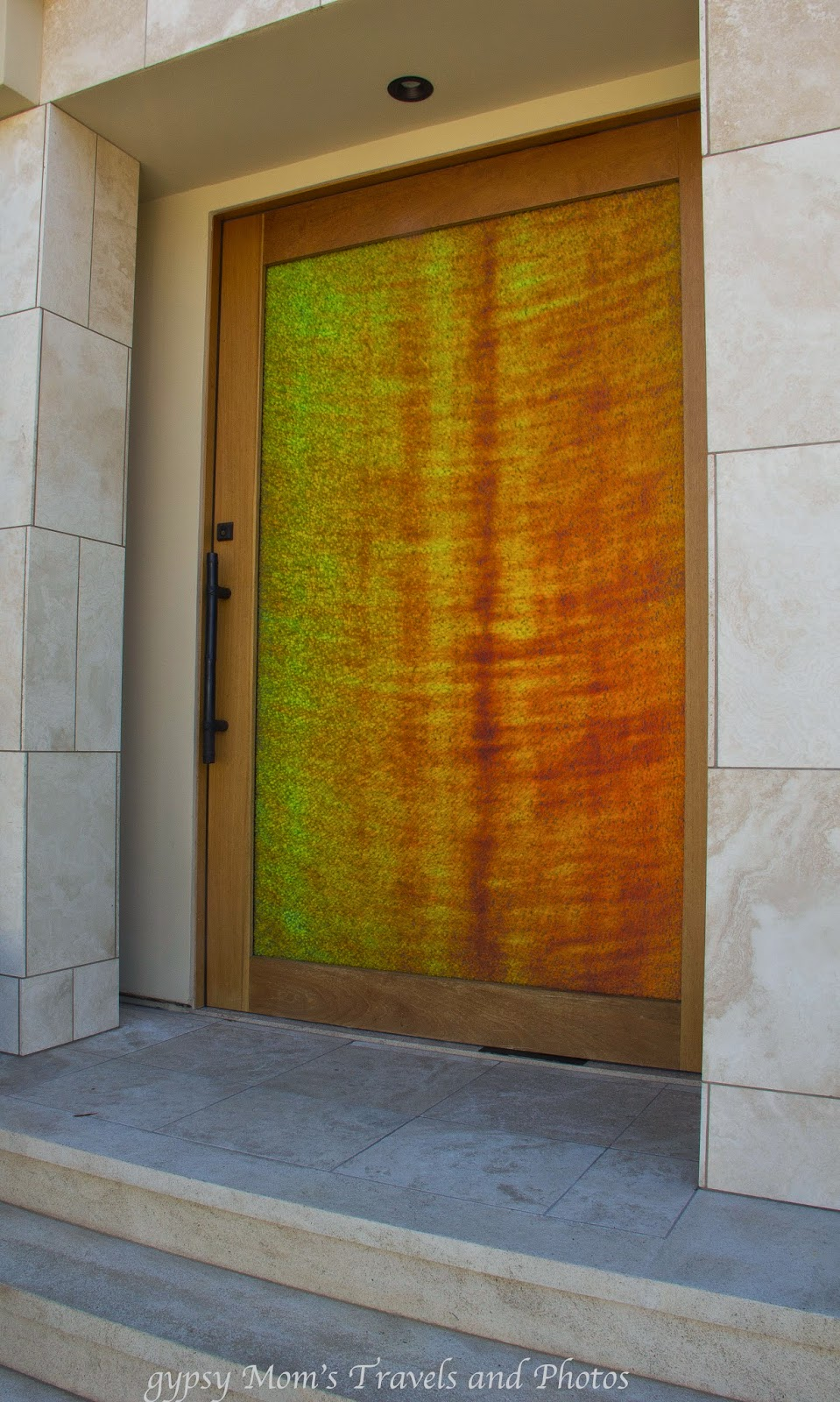 Modern front door on home on Balboa Island