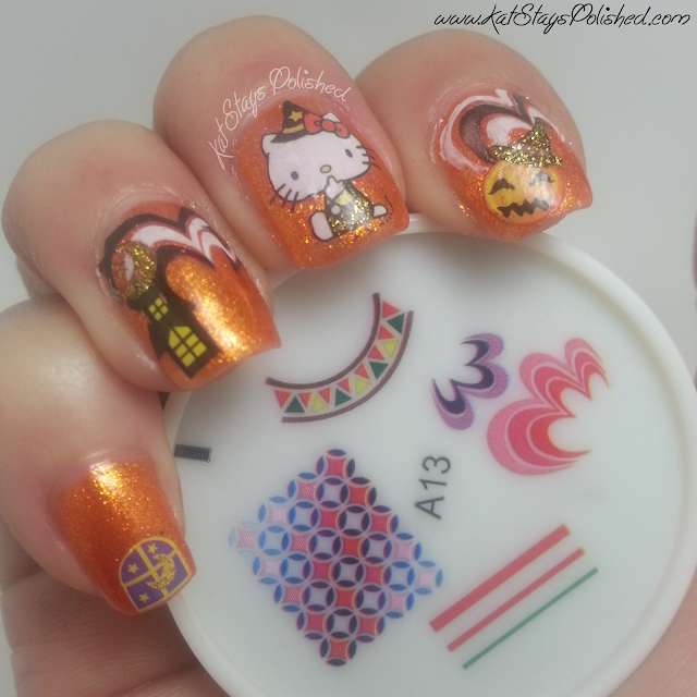 kkCenterHK - Hello Kitty Halloween Manicure - JulieG Beach Bonfire
