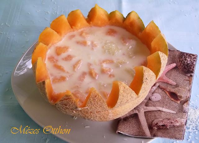 kókuszos sárgadinnye fotója