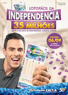 Divulgação da Lotofácil Independência 2012