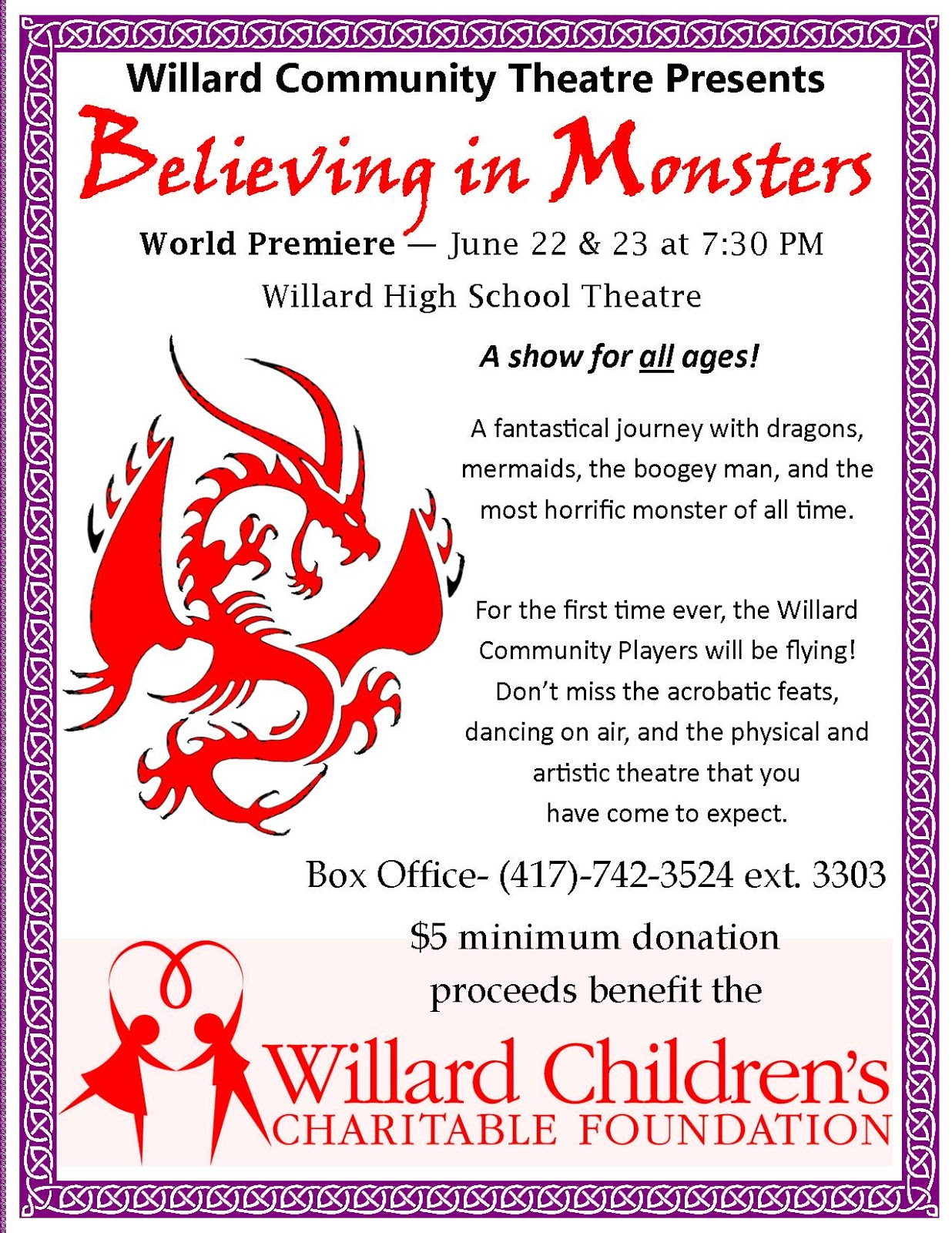 Willard High School and munity Theatre The Healing Theatre
