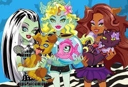 Even monsters have their own pet, whether a little weird also need some pampering. This is a fun day at Monster High school so that every student has the opportunity to bring your beloved pet in order to learn how to properly care for her.