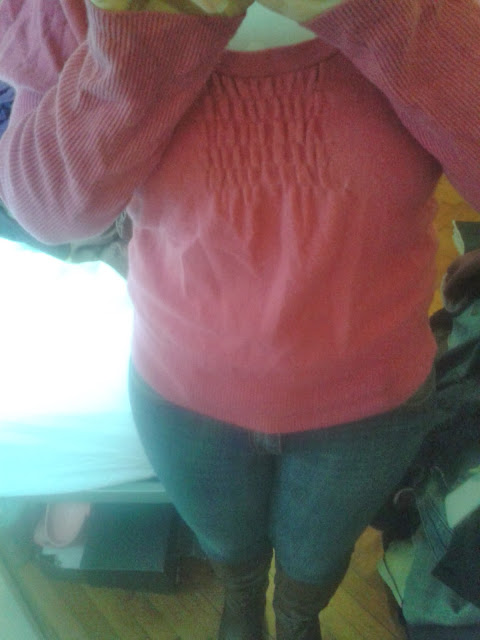 An old M&S Cashmere Jumper, Jeans and Aldo Boots