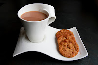 Cup of tea and three Cornish Fairing biscuits