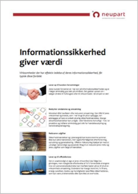 Informationssikkerhed giver værdi