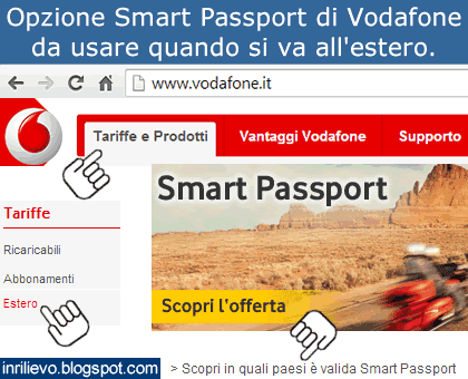 smart passport vodafone estero