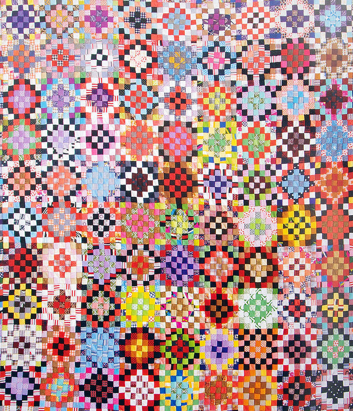 Unconventional & Unexpected: American Quilts Below the Radar by Roderick Kiracofe |  Mosaic Rose c.1950-2000.  Found in Arkansa Polyester Double Knit