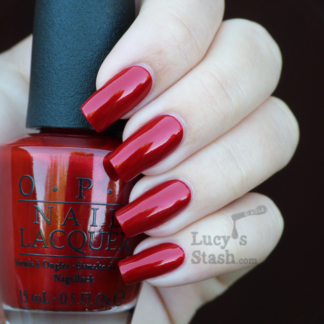 Lucy's Stash: OPI Germany Danke-Shiny Red