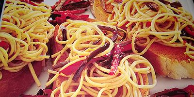 tallarines siciclianos receta