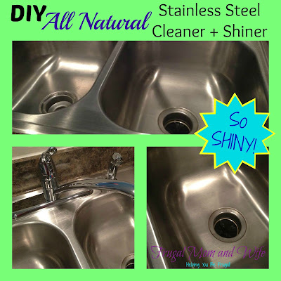 DIY Frugal All Natural Stainless Steel Cleaner + Shiner!