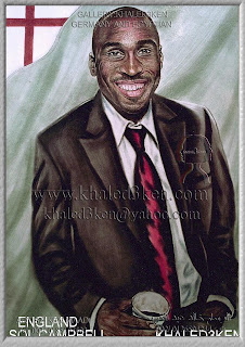 STARS ENGLAND SOL CAMPBELL Portrait Drawing Soccer Football Khaled3Ken Gallery