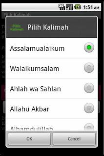Pilih Kalimah apk - aplikasi android Indonesia arab