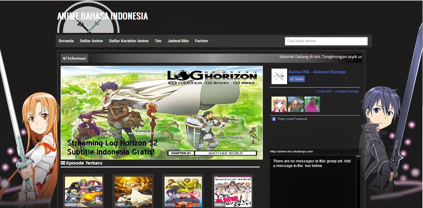 [Premium Free] Anime INA Streaming Anime Blogger Template | Kamisamazune.tk