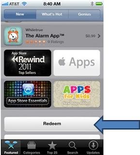 Como resgatar o codigo iTunes Store EUA em iPhone App
