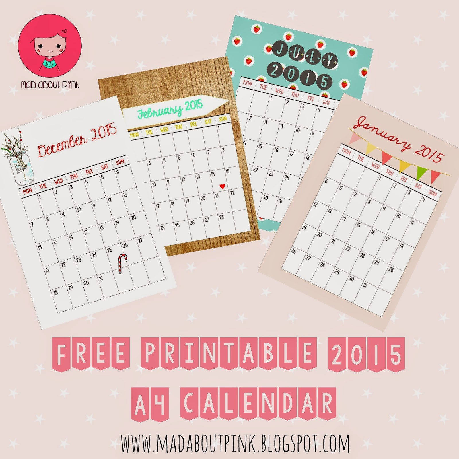 Famous 1.25 Button Template Tall 16 Year Old Resumes Clean 1st Birthday Invitations Templates 2 Inch Hexagon Template Young 2 Month Calendar Template Fresh2 Page Brochure Template Mad About Pink: 2015 Free Printable A4 Calendar   Must Have If You ..