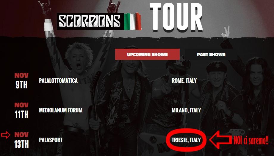 Scorpion Live Tour