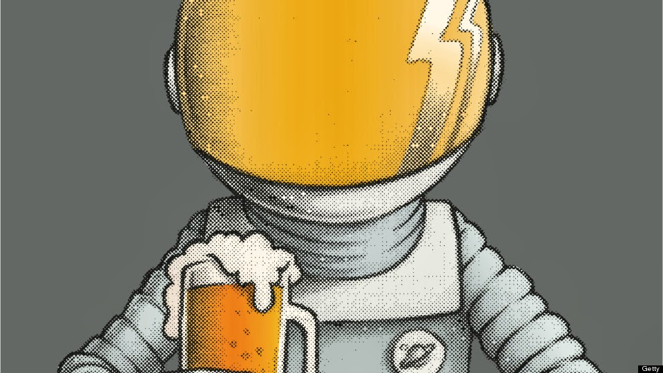 astronaut drinking beer in space-#25