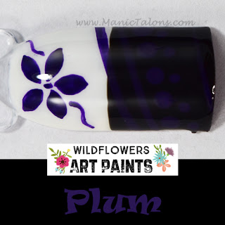 Wildflowers Nail Art Paint Plum