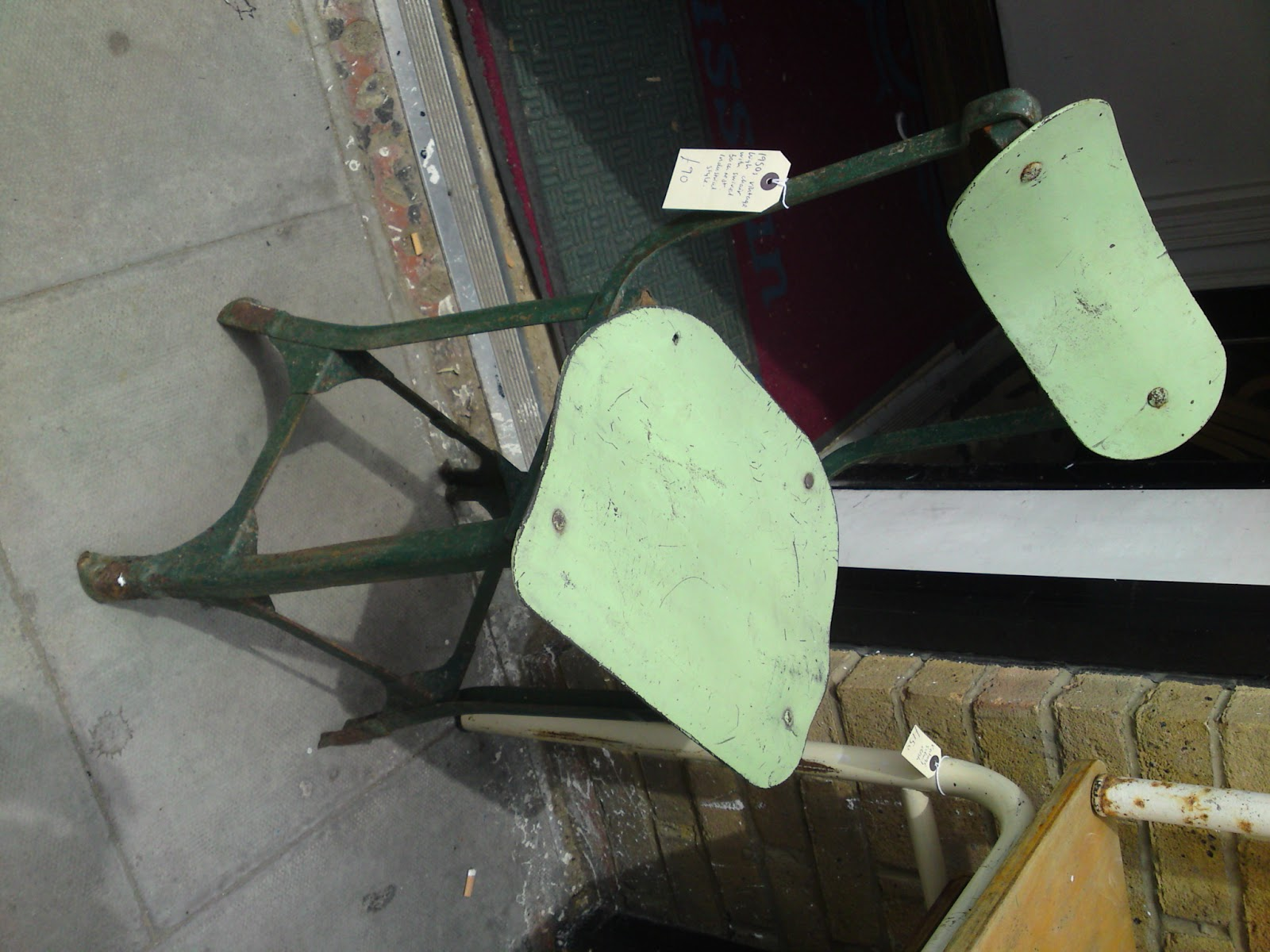 1940s vintage industrial tall chair with swivel back rest £90 SALE