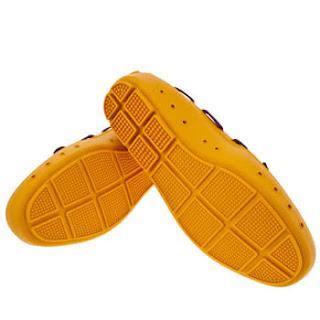 mocasines pvc amarillo suelas