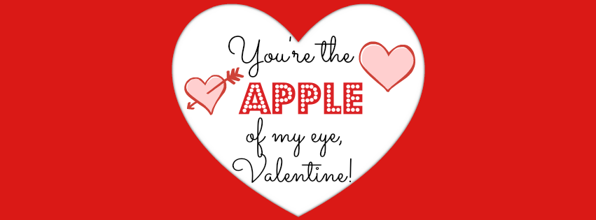 youre the apple of my eye valentine printable tag