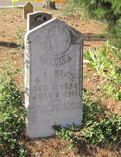 Gravestone of R. F. Heath