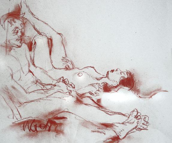 akt, nude drawing, male, female, aktzeichnung, erschöpft