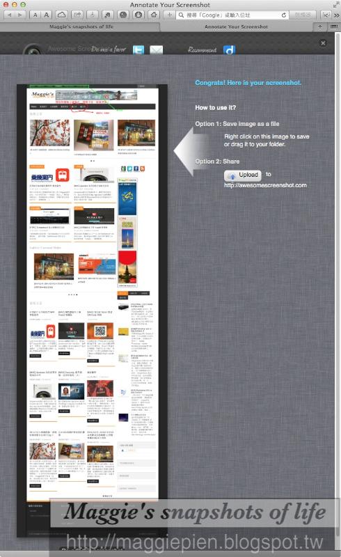 how to use awesome screenshot safari