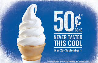 50 cent ice cream cones at burger king august to september 2013