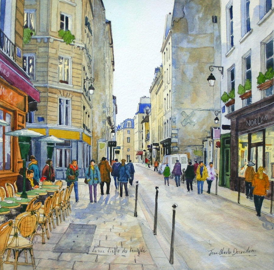 Jean Charles Decoudun Marais district in Paris