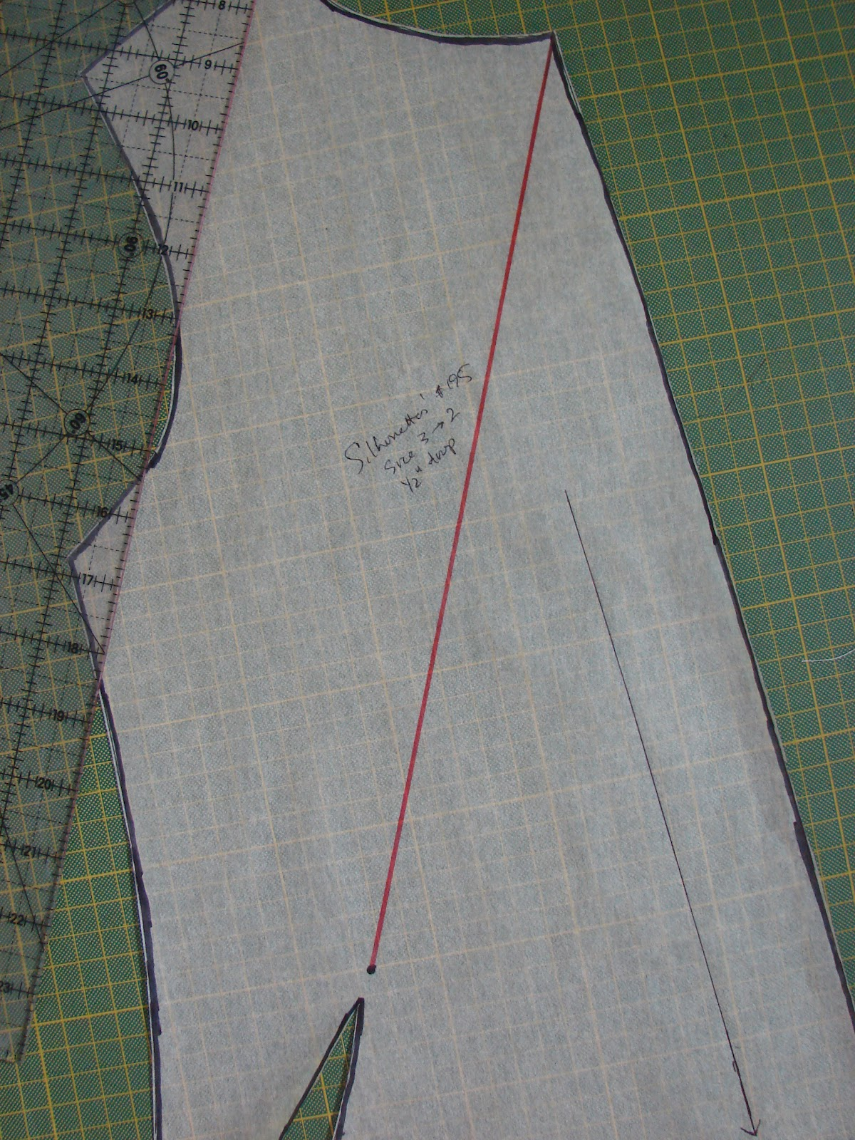 Free sewing tutorial draft a deep cowl neck top poldapop designs paper as youll need to do a lot of cutting to move the dart to the neckline draw a straight line from the dart point to the center front neckline jeuxipadfo Image collections