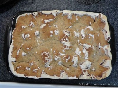 cookie bars baked in oven