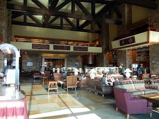 Lounge in Jackson Lake Lodge in Grand Teton National Park in Wyoming